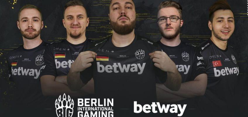 Betway wird neuer Hauptsponsor vom deutschen eSports-Clan Berlin International Gaming (BIG)