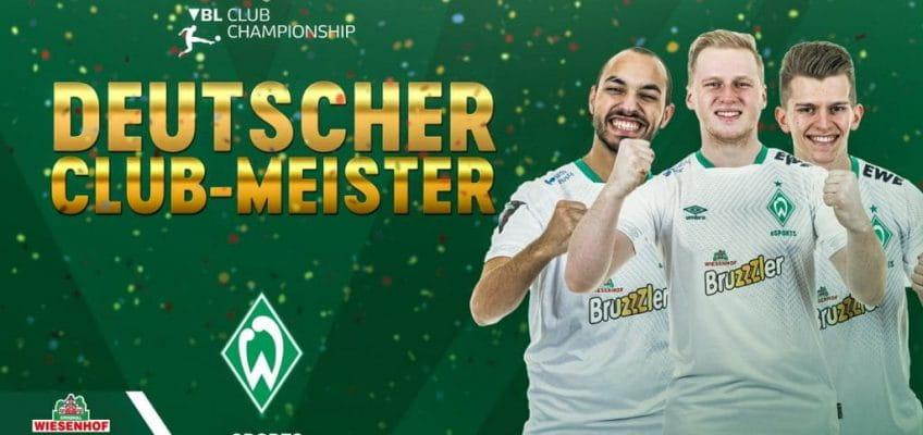Werder Bremen sichert sich den Klub-Meistertitel in der Virtuellen Bundesliga